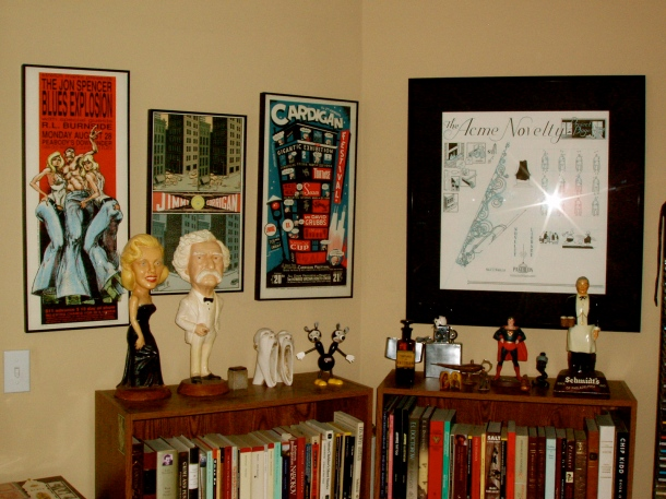 Derek Hess and Chris Ware (including Acme Novelty Original).